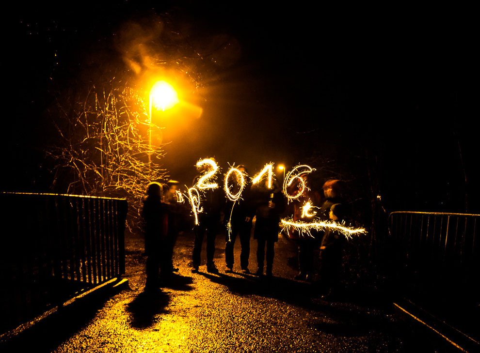 Ein gutes neues Jahr 2016 - Lightpainting