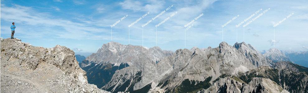 Bild: Ausblick vom Gipfel des Hochwannig