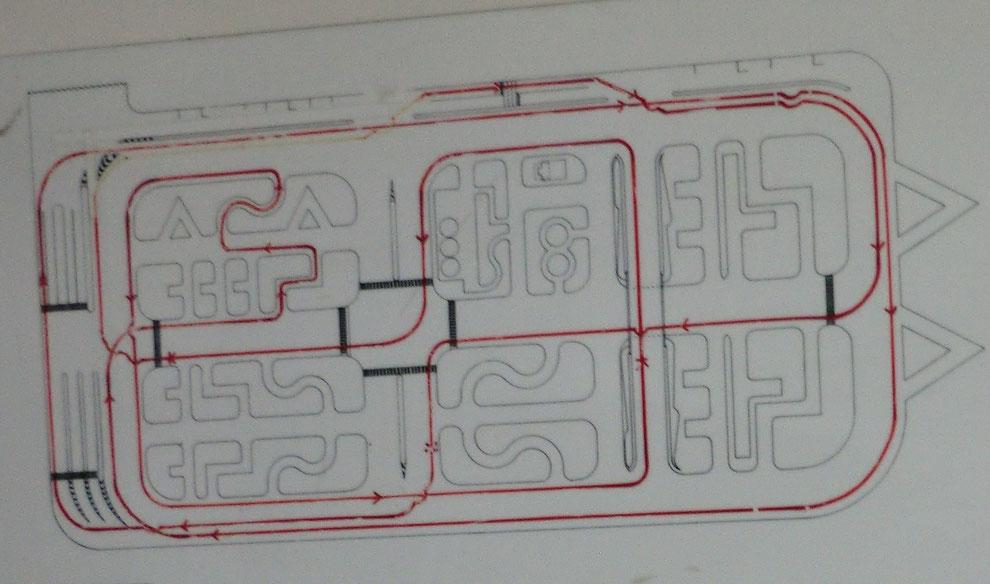 技能試験待合室に掲示されているコース順路図