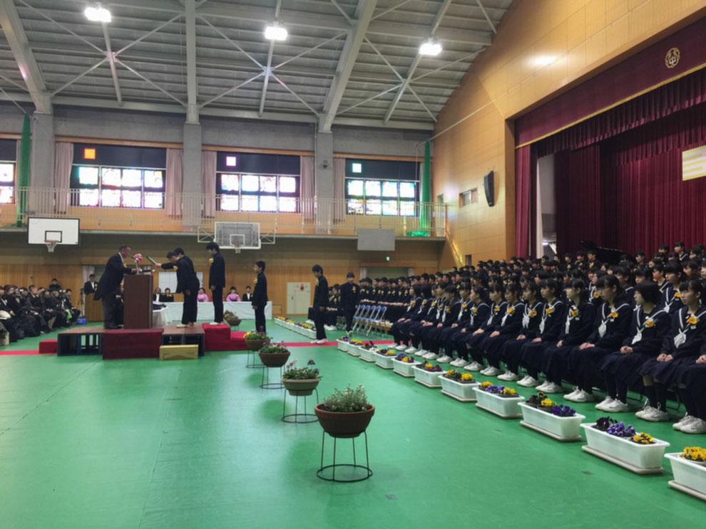 八幡中学校卒業式