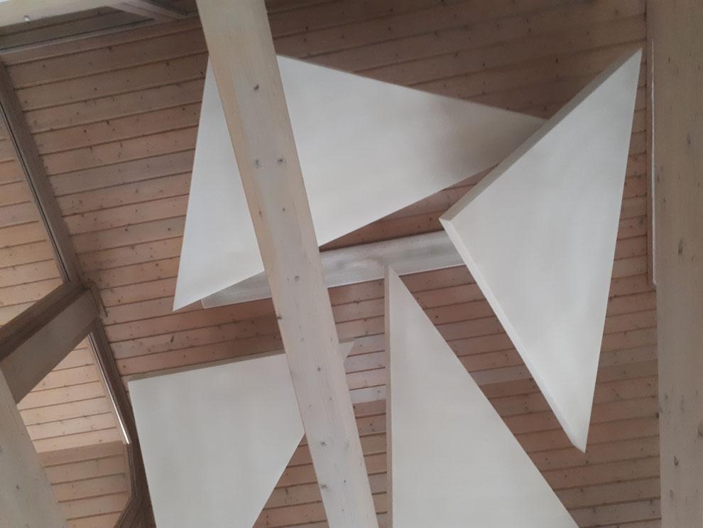 Dreieckige Deckensegel