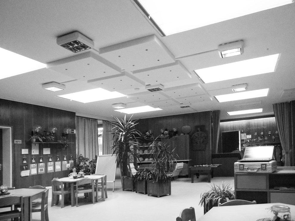 Akustische Sanierung eines Gruppenraums