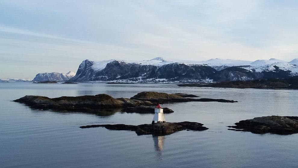Hurtigruten im Winter.