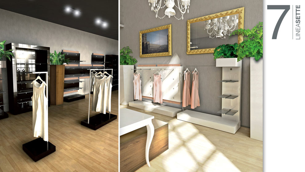 Einrichtung für Kleidergeschäft