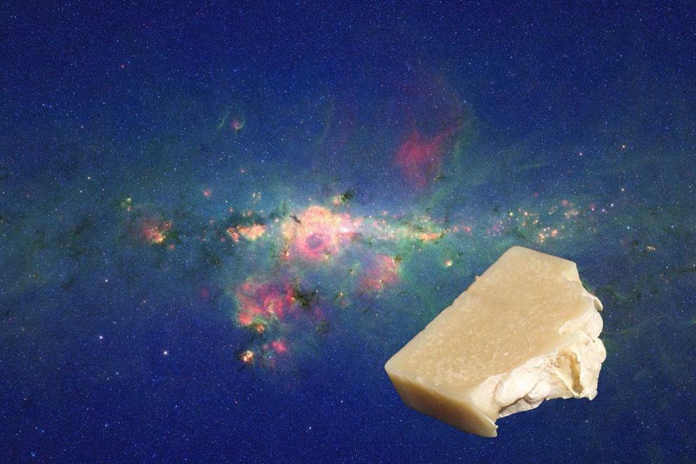 Milchstrasse des Himmels mit einer Seife
