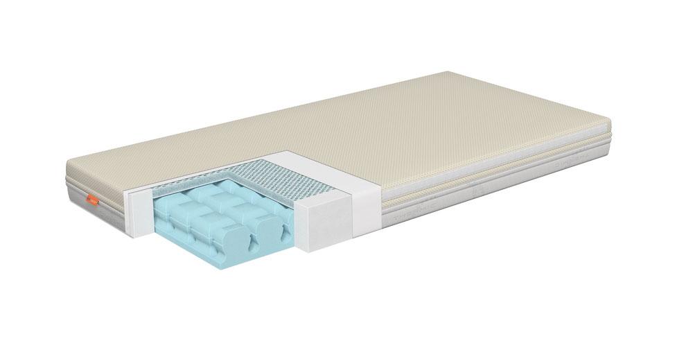 Colchón cuna GEO para bebé con plancha 3D Plus que permite una mayor transpiración.