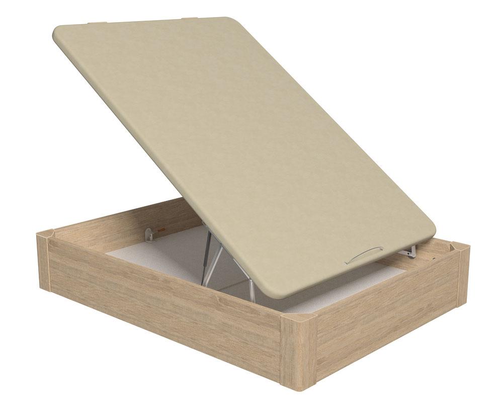 Canapé abatible Napolés con tiradores de madera o metálicos. Patas de madera con tapas antiarañazos.