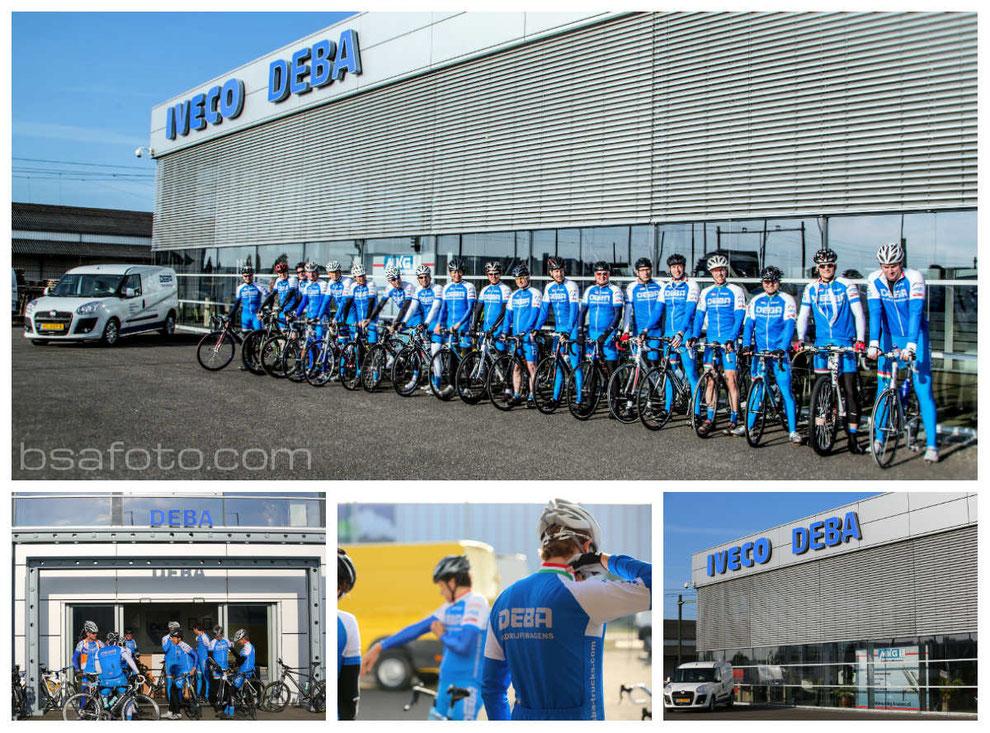Deba Bedrijfswagens BV Iveco- en Fiat Dealer in Etten-Leur . Fietsclub