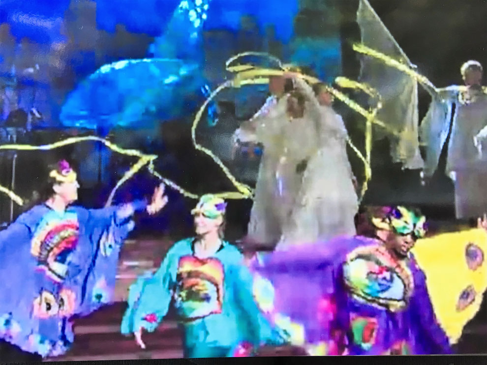 Dancers wearing the Four Living Creatures Garments during a ministry piece