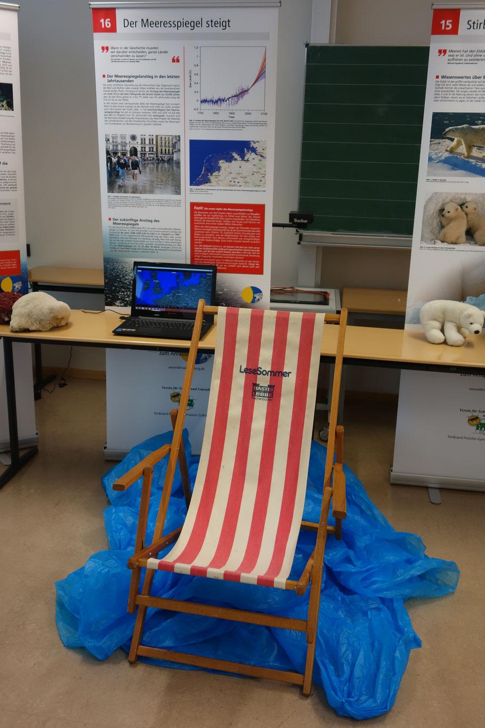 Installation zum Meeresspiegelanstieg