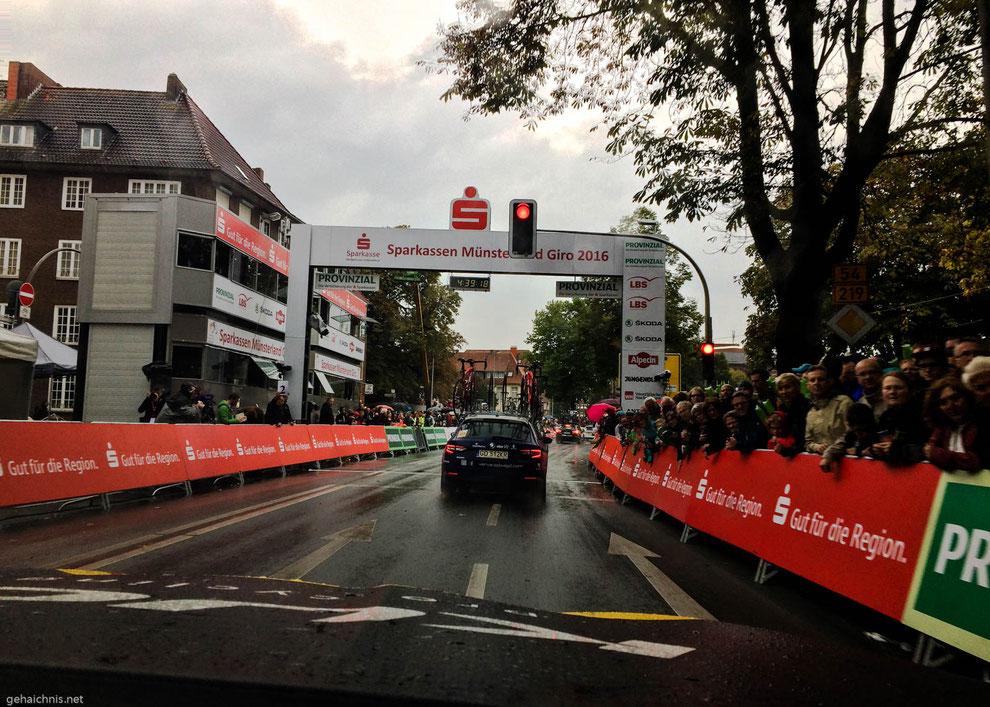 Zieleinfahrt Münster