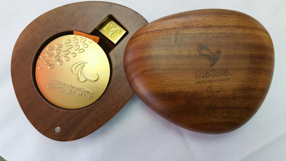 Eine der zwei Gold-Medaillen Rio 2016 (Straßenrennen und Einzelzeitfahren)