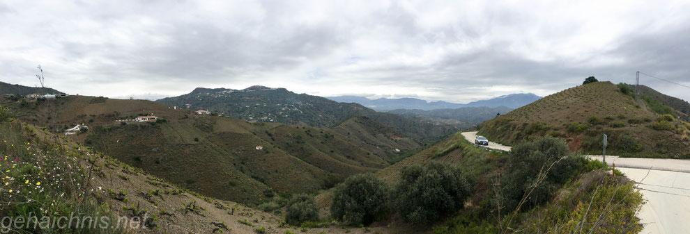 Den Pass auf 420 m Höhe erreicht