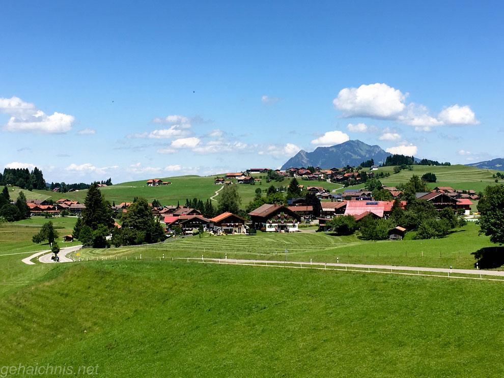 Obermaiselstein mit Grüntenblick