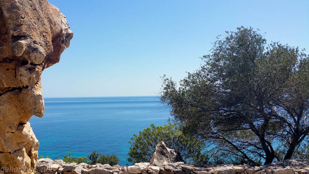Blick auf das Tyrrhenische Meer
