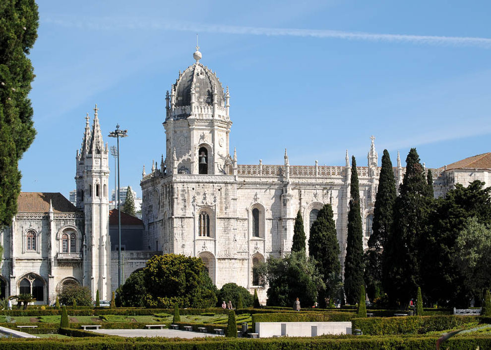 Das Hieronymuskloster Mosterioe dos Jéronimos von Belém