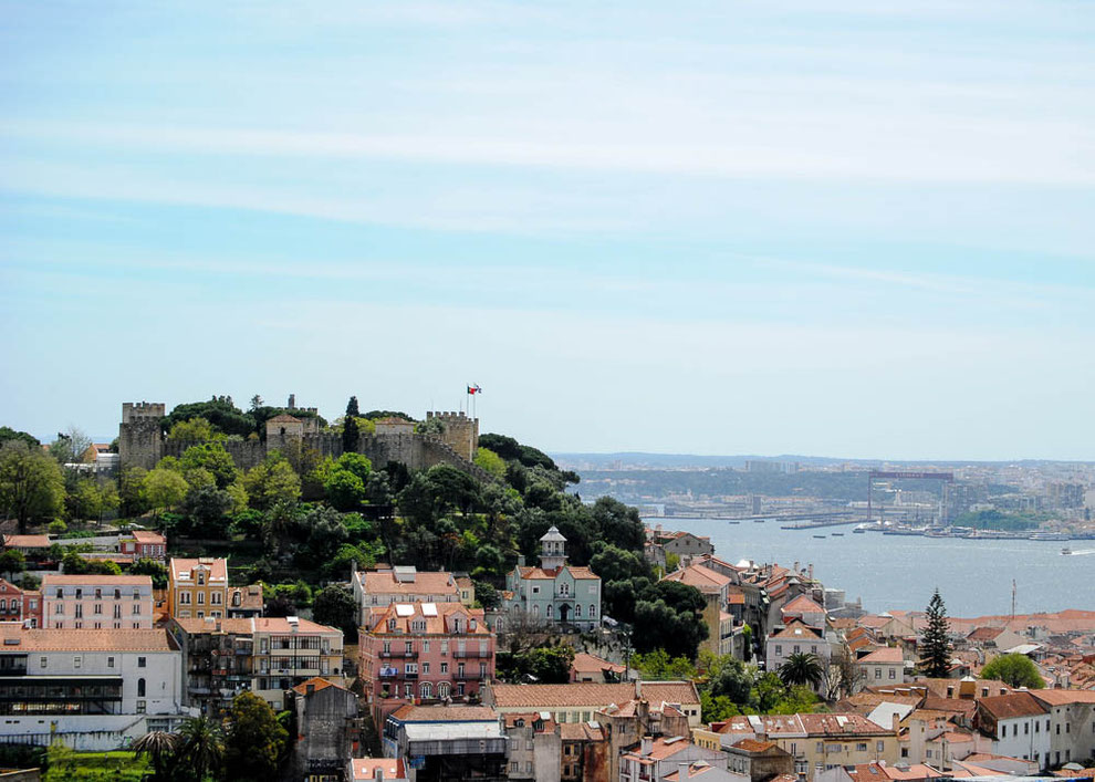 Das erste Ziel am zweiten Tag: Das Castelo de Sao Jorge