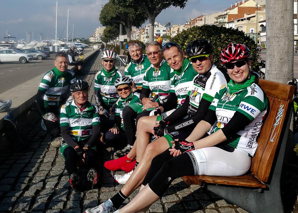Täglich mit mir auf Radtour gehen Hans-Jürgen, Rudi, Britta, Paul, Jürgen, Michael, Karsten und Nicole