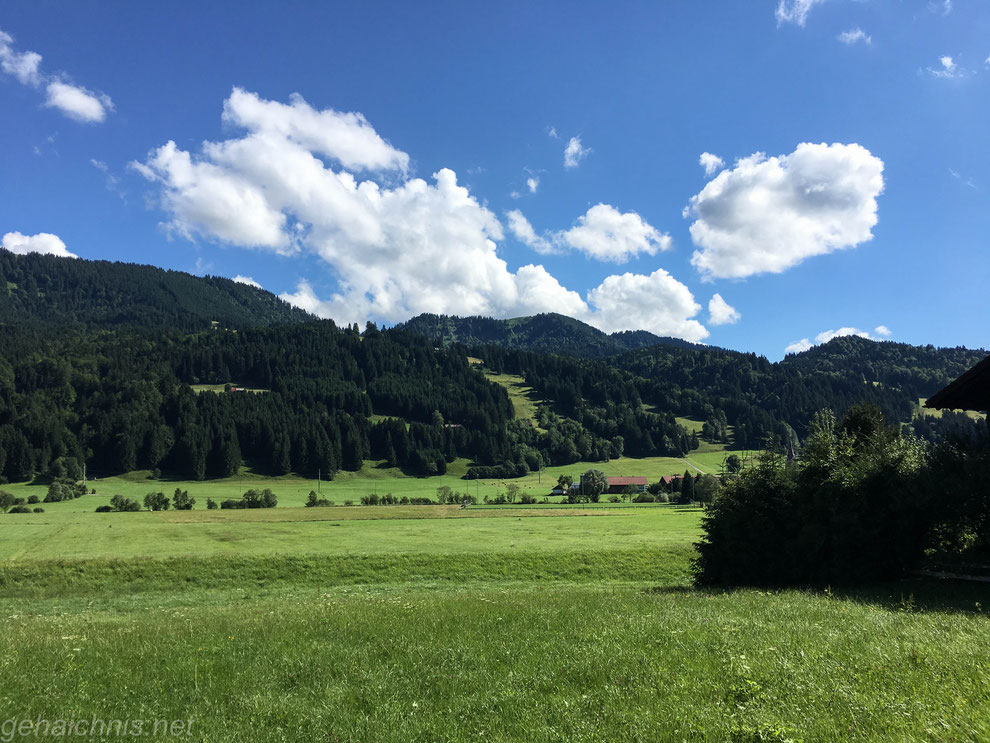 Im Konstanzer Tal auf dem Weg zum Alpsee