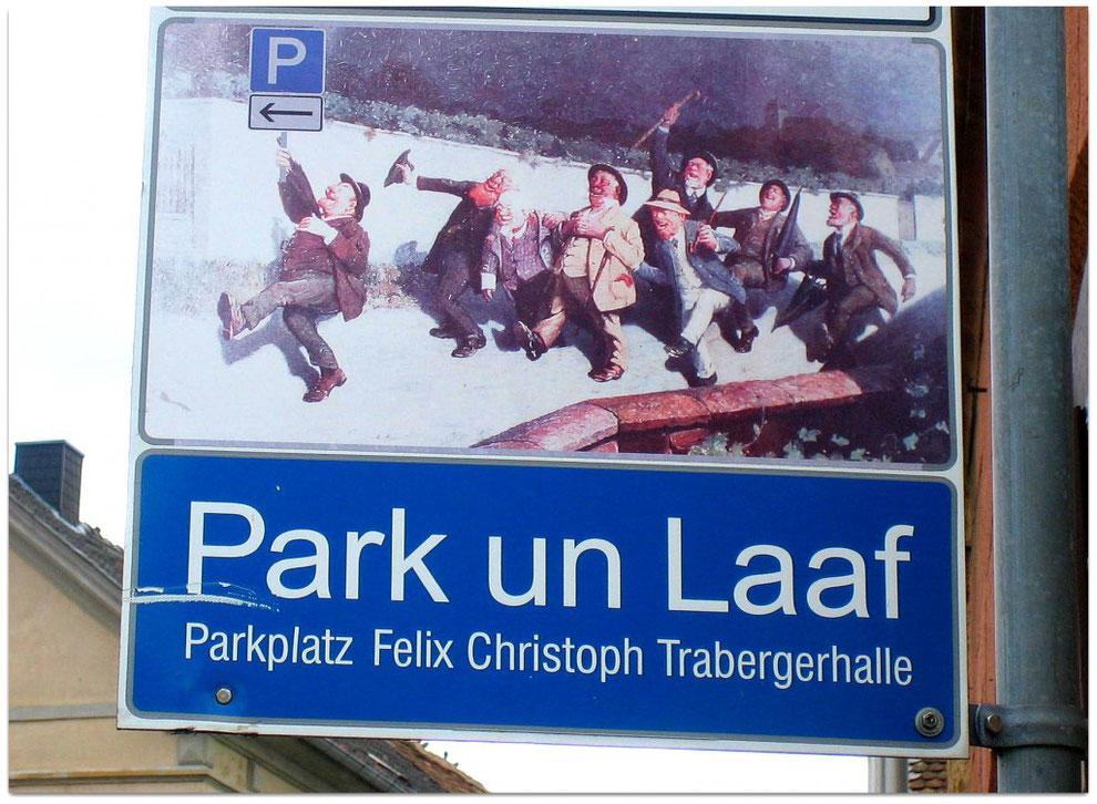 Park-Leitsystem auf pfälzisch