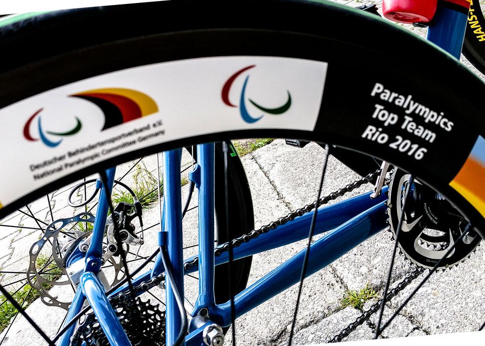 Hans-Peter's gebrandetes Radsport-Dreirad