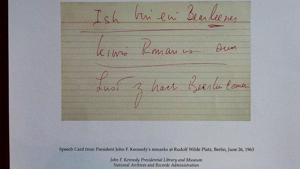 """Worte, die Geschichte schrieben """"Ich bin ein Berliner"""""""