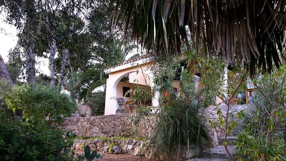 Im Garten der Casa.