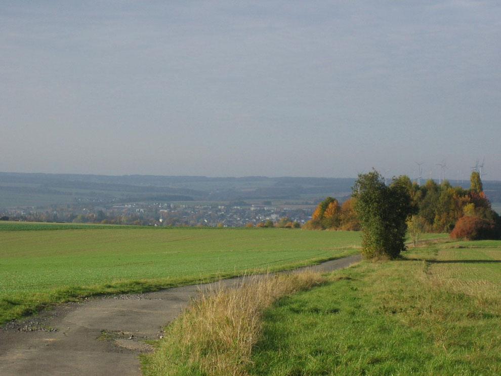 Blick auf Simmern/Hunsrück