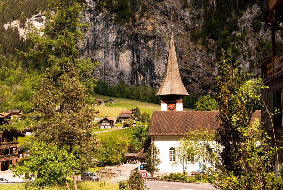 Die Kirche von Lauterbrunnen