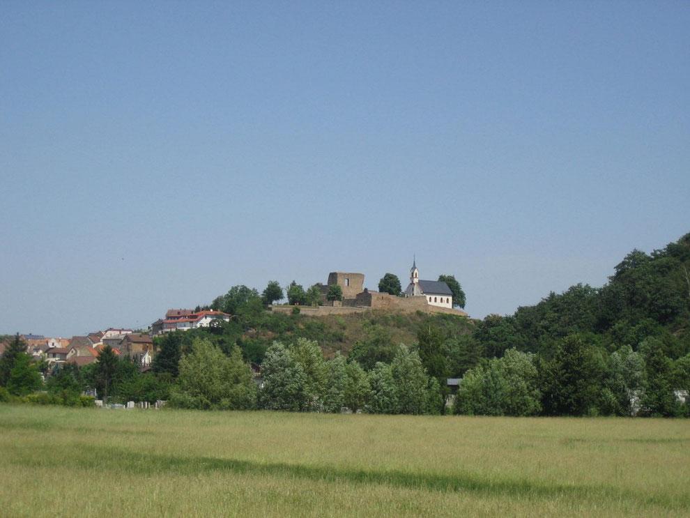 Burg Neu-Baumburg mit der Burgkapelle St. Dionysius