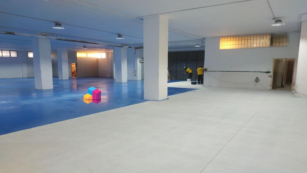 Pintar suelos para naves de oficinas de farmacia