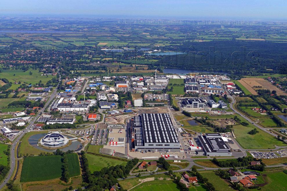 Das Gewerbegebiet in Aurich Sanhorst Enercon EEZ