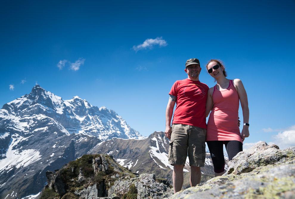 Robert & Cornelia in den Schweizer Bergen