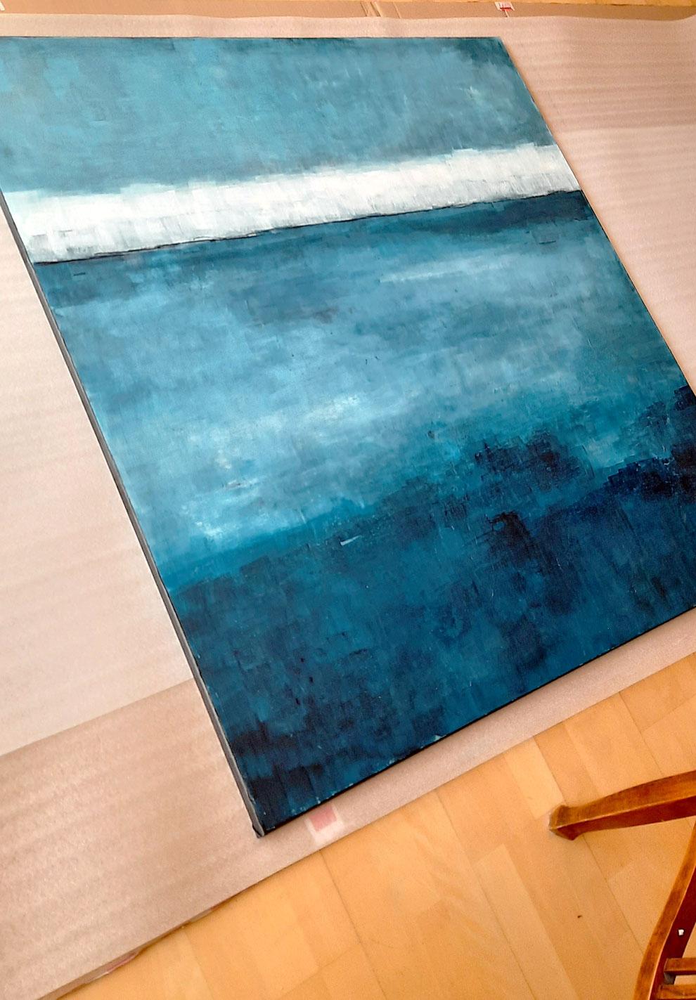 blaues Landschaftsbild - Auf Bootstour