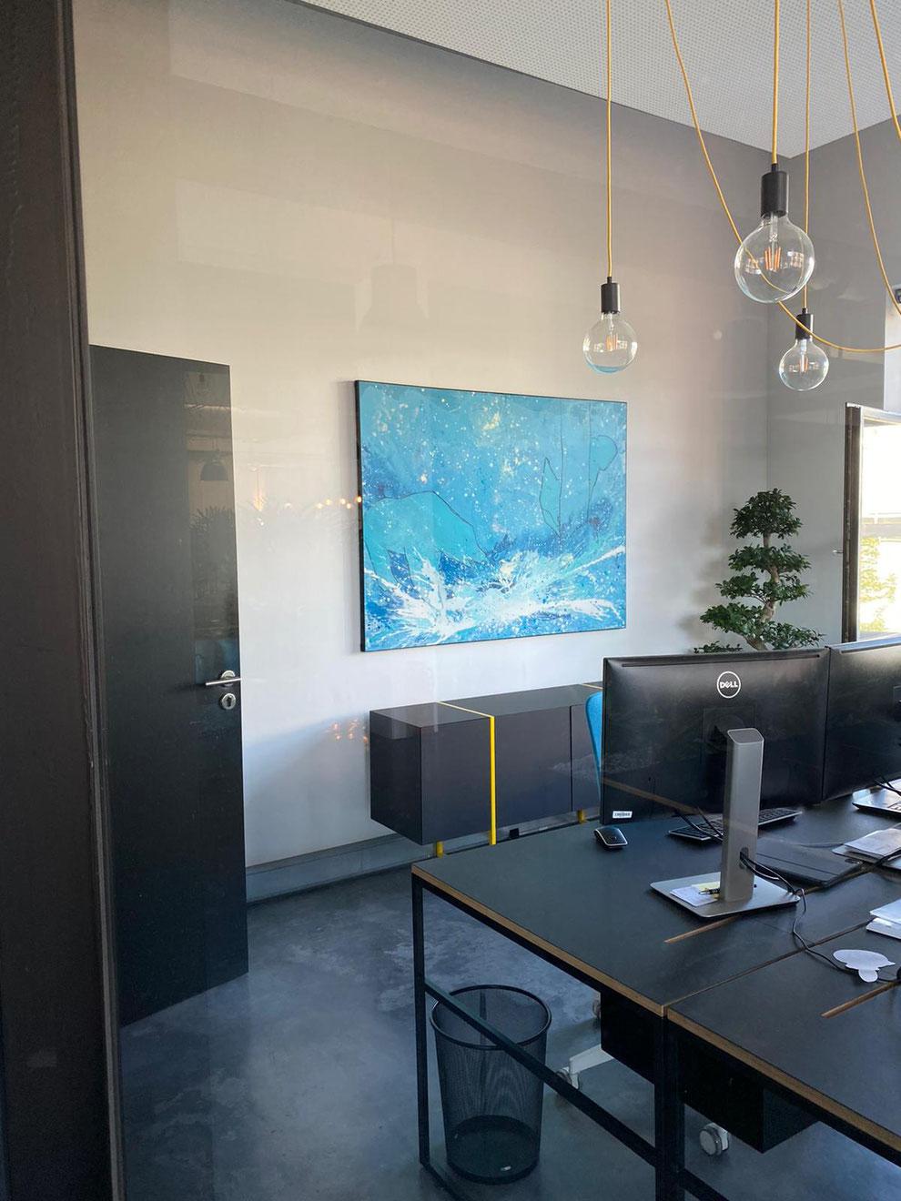 Kunst für Unternehmen  - referenzfoto von blueworld