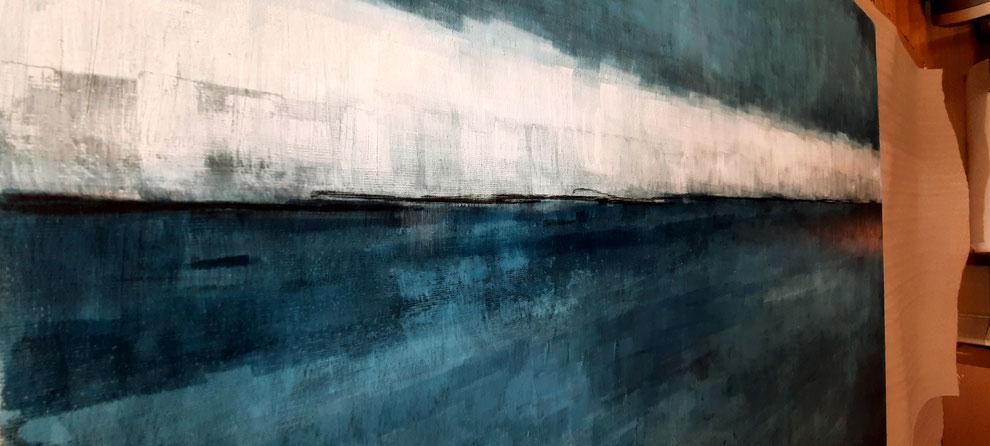 blaues Bild im detail