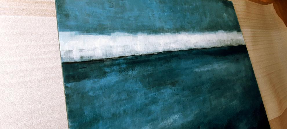 Blaues Landschaftsbild