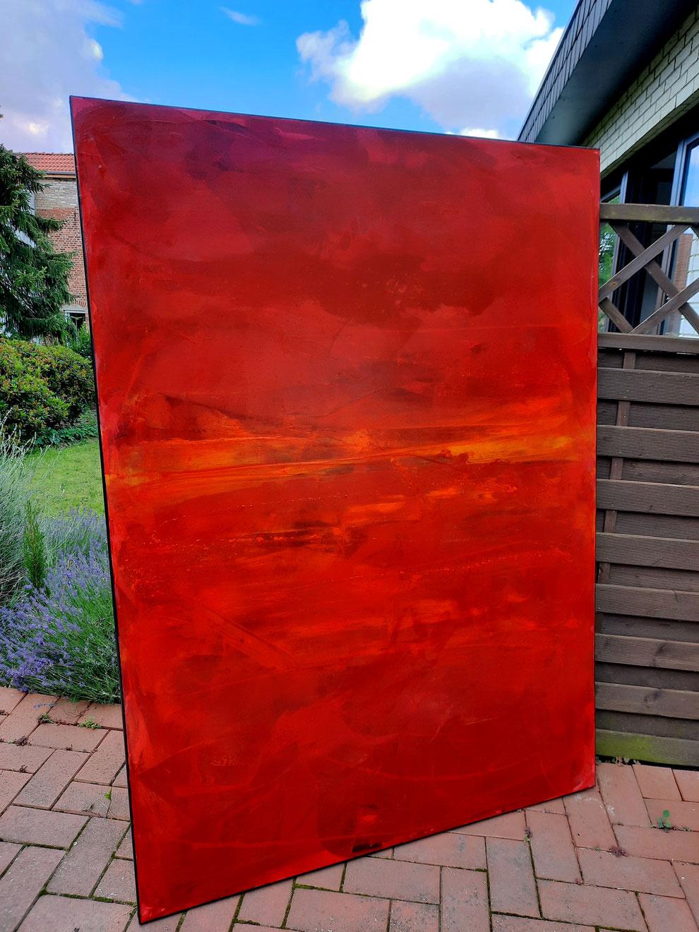 großes Bild in rot