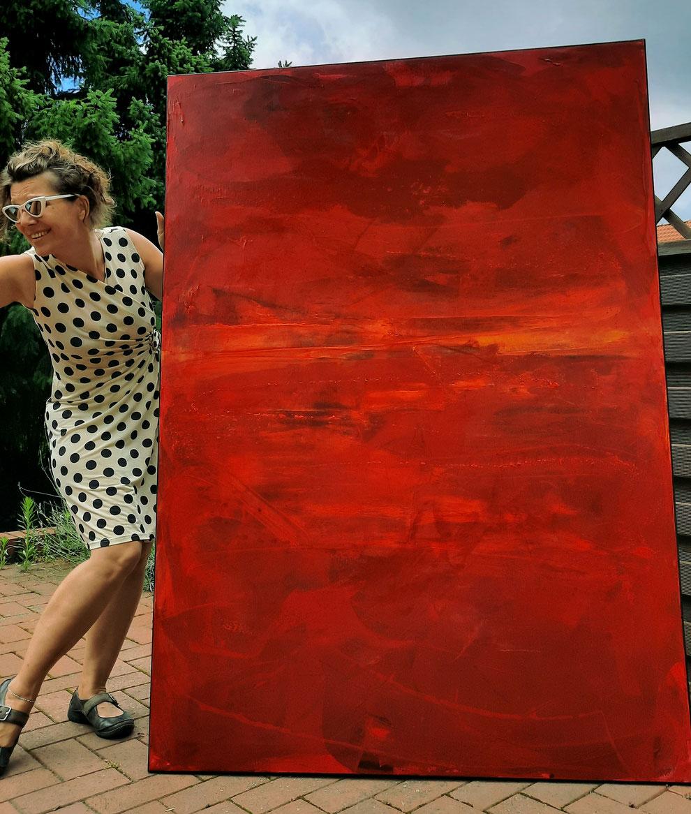 großeformatiges rotes Bild