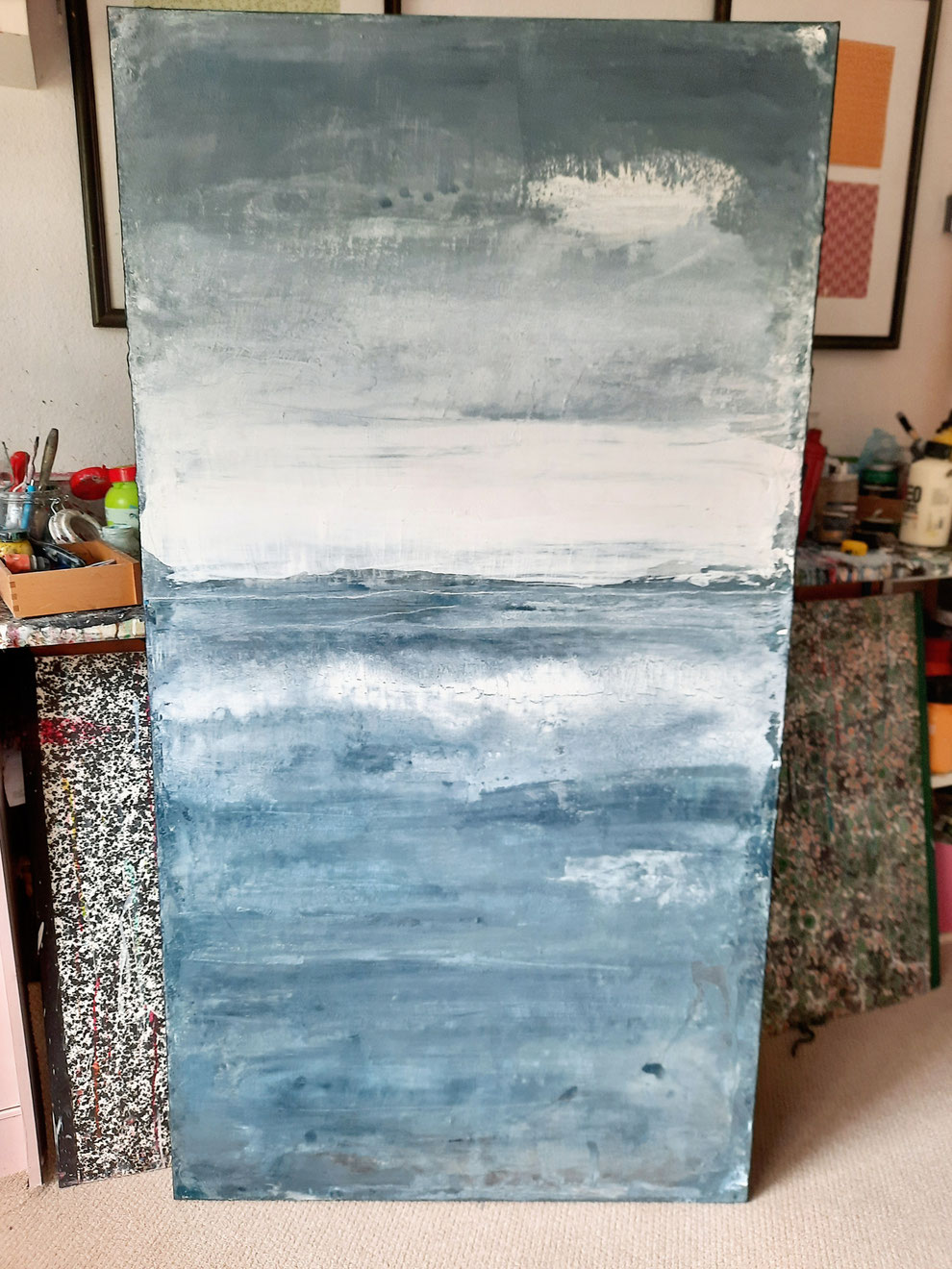 blaues Gemälde - Abstrakte Malerei
