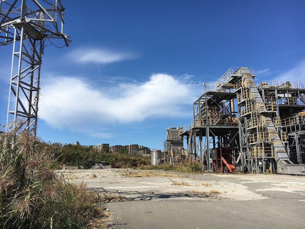 池島の工場跡地