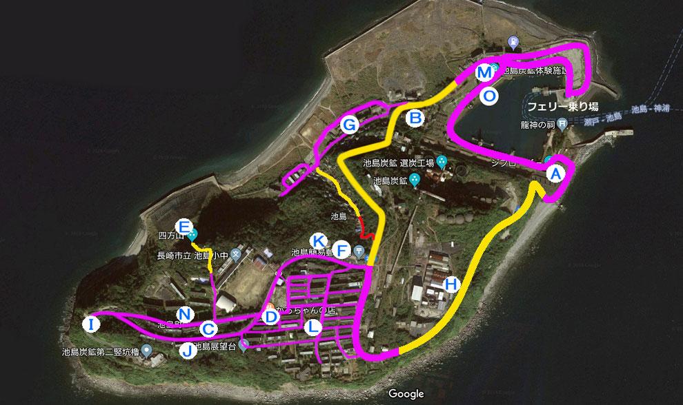 池島の地図