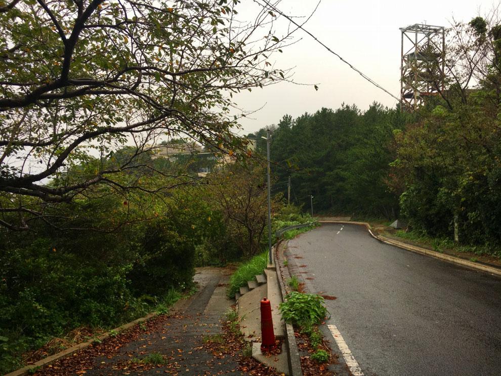 池島の下り道路