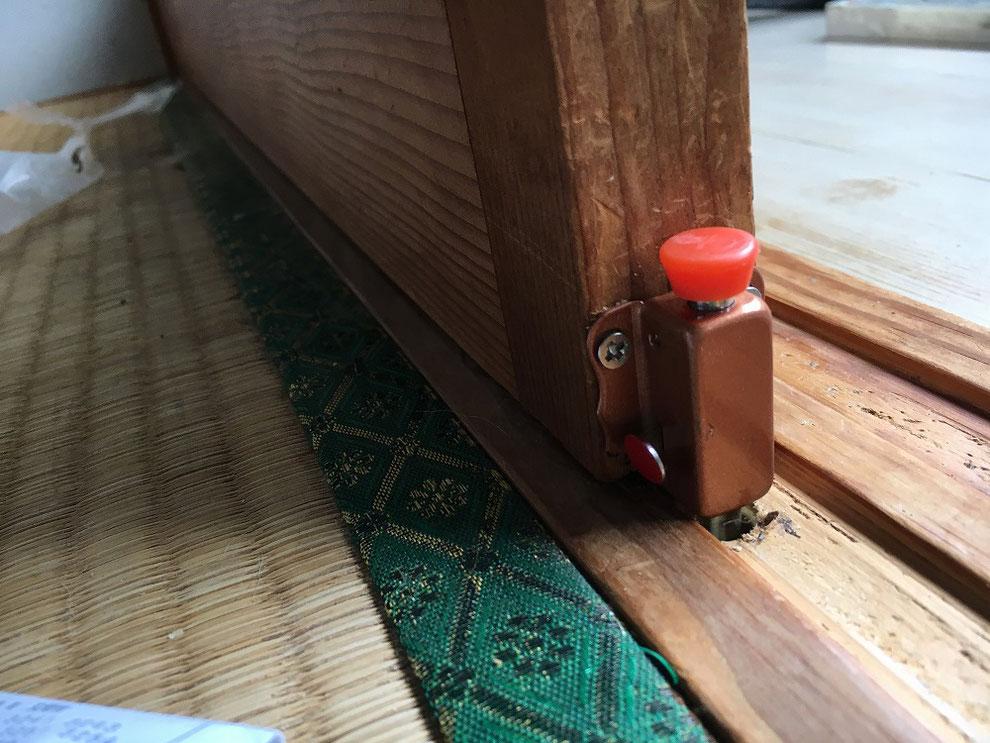 プッシュラッチの取り付け後の別角度の写真