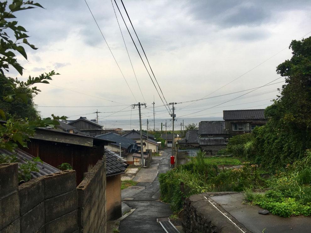 池島の住宅街