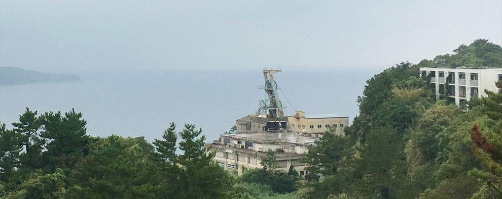 池島炭鉱第二竪坑櫓の写真