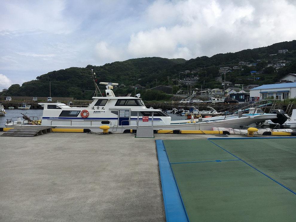 池島から神浦港に戻った地域連絡船