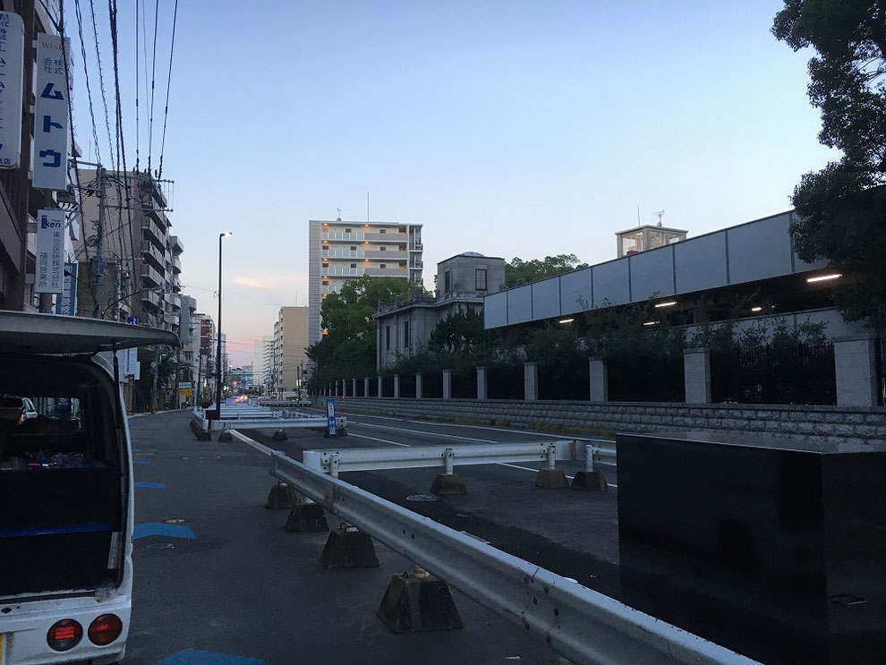 工事完了後の朝