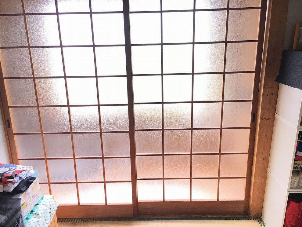左右の戸を入れ替えた後の写真(室内側から)