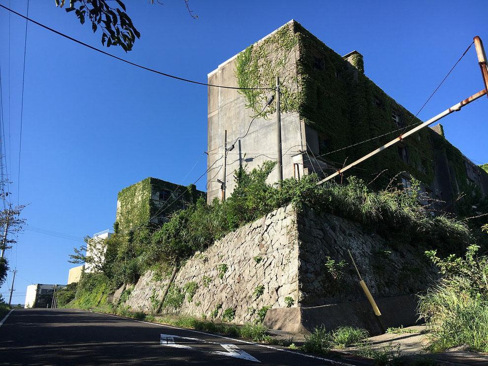 池島の鉱員住宅の廃墟